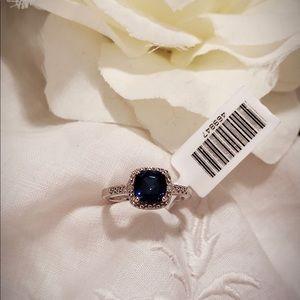 1.12ctw Sapphire and Diamond Ring